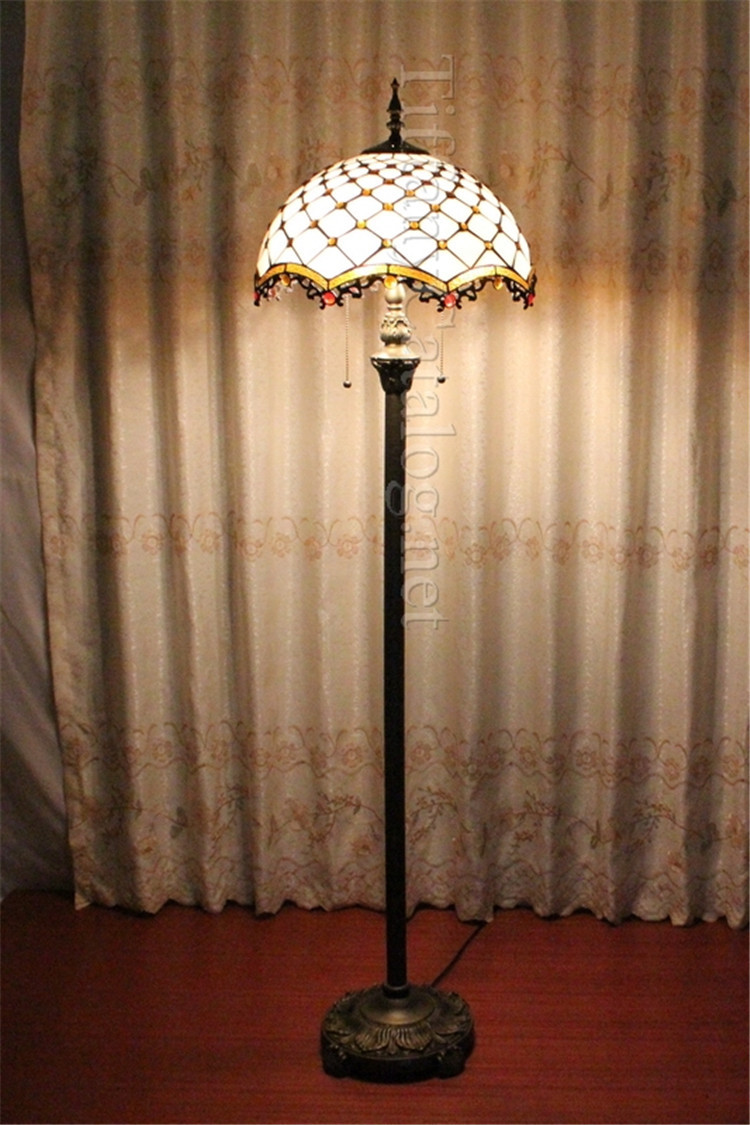 European Mediterranean Tiffany style floor lamp living room bedroom study landing lamp