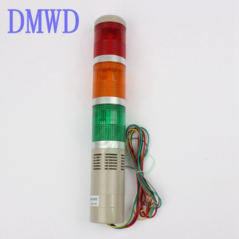12V 24V 110V 220V Safety Stack Lamp Red Green Yellow Flash Industrial Tower Signal Light LTA-205 Red green yellow indicator