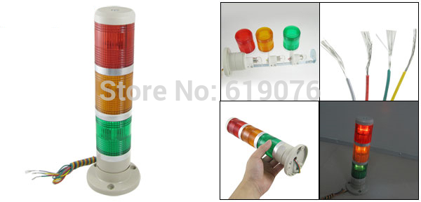 LED LAMP Signal Industrial Tower Light Red Yellow Green Safety  Warning Stack Lamp Alarm Apparatus 12V 24V 110V 220