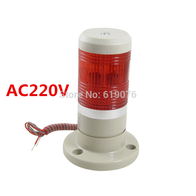 AC220V Red steady Signal Tower Industrial Warning Lamp Stack Light Alarm Apparatus