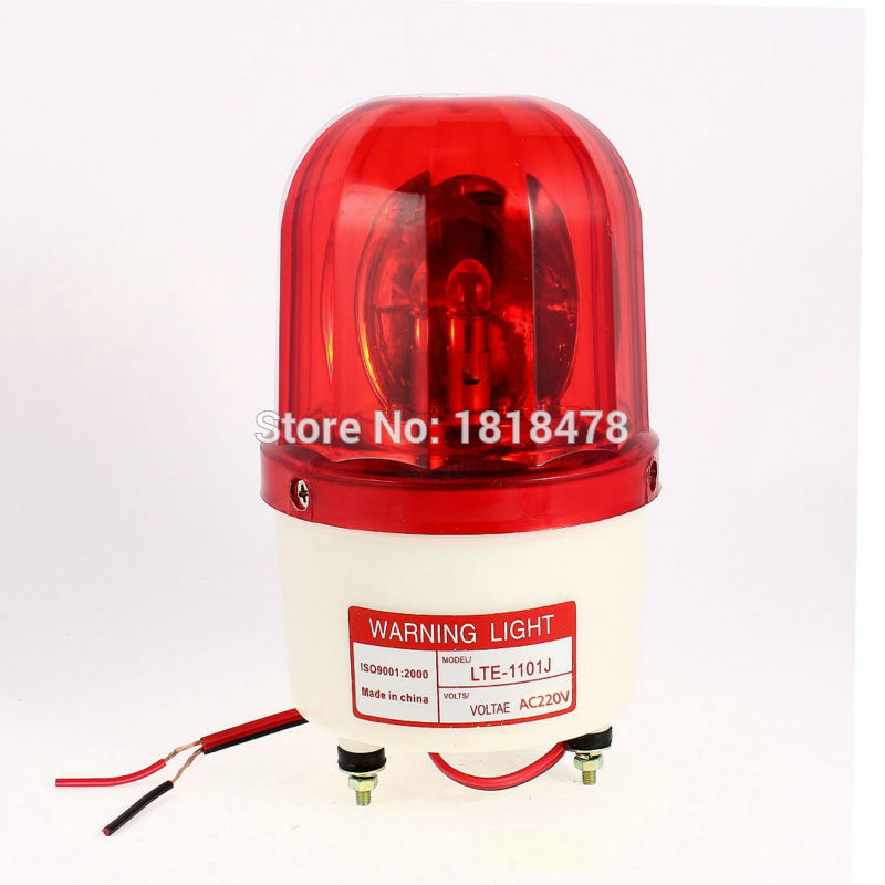 LTE-1101J AC220V  Industrial AC 220V AC110V DC12V DC24V  Flash Siren Emergency Rotary Warning Lamp Light Red