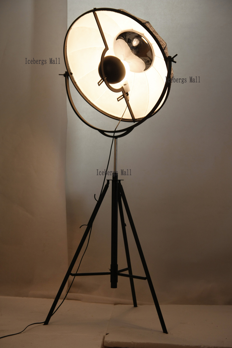 bfc8030423888 ... Fortuny Photography Floor Lamp Modern Satellite Studio Fabric Lampshade Floor  Light Living Room Museum Hotel Home ...