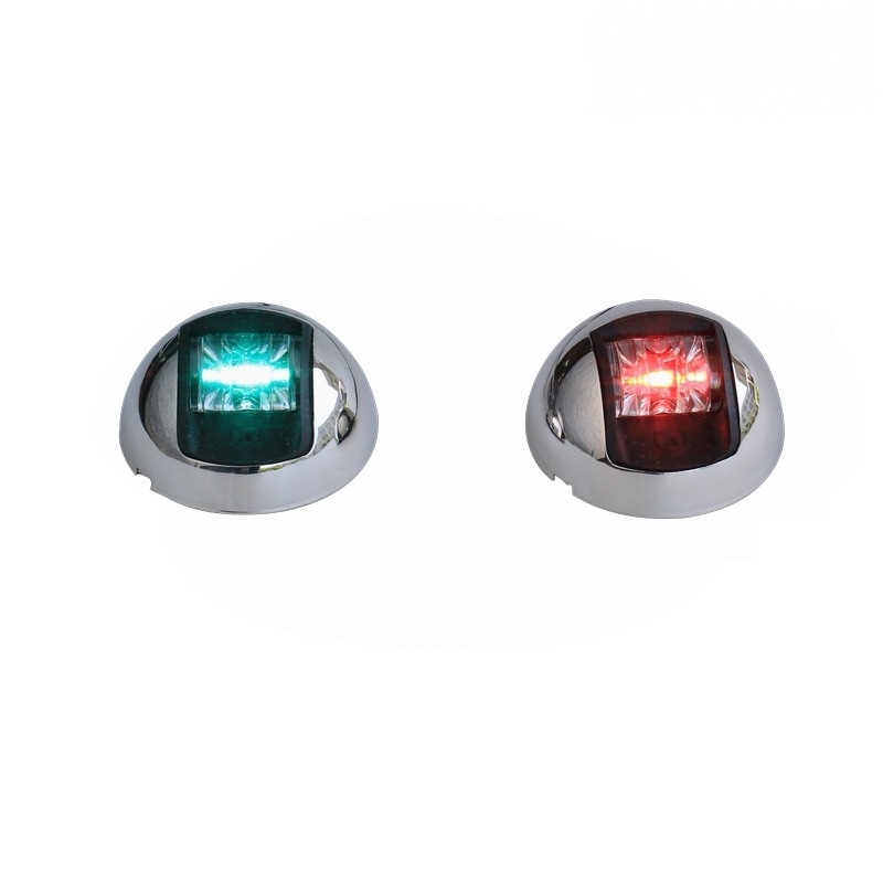 Boat Yacht 1-Nautical Mile LED Navigation Lights / Port & Starboard LED Vertical Mount Sidelights -One Pair