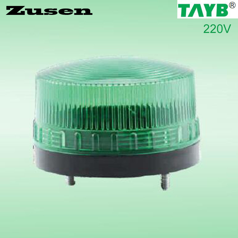 Zusen Green led TB35 220V  Security Alarm Strobe Signal Warning Light LED Lamp small Flashing Light