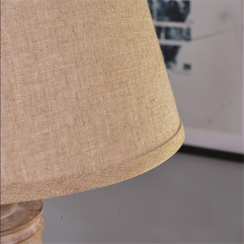 NEW Cottage Vintage Handmade Wood Linen Led E27 Floor Lamp for Living Room Bedroom Study Deco Light H 165cm 1712