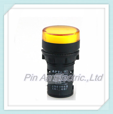 Indicator Lights  10 PCS AD16-22 led Indicator lamp 110V LED Power Indicator Signal Light 22mm mounting size