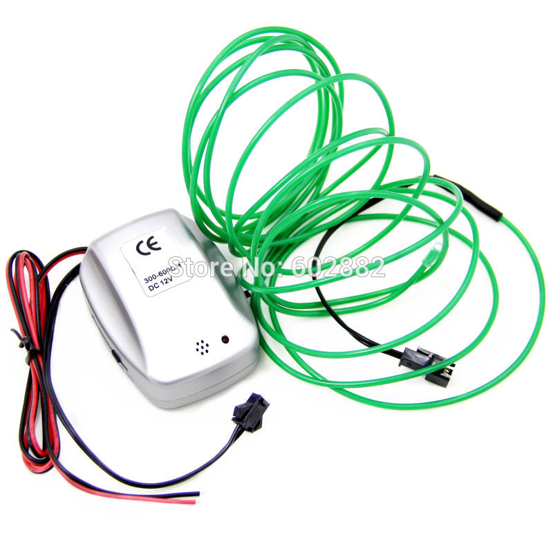 3 Meter EL Wire+ 2.3mm + Dc12V Sound Activated Inverter with stabilized voltage+ + Mix Order Available