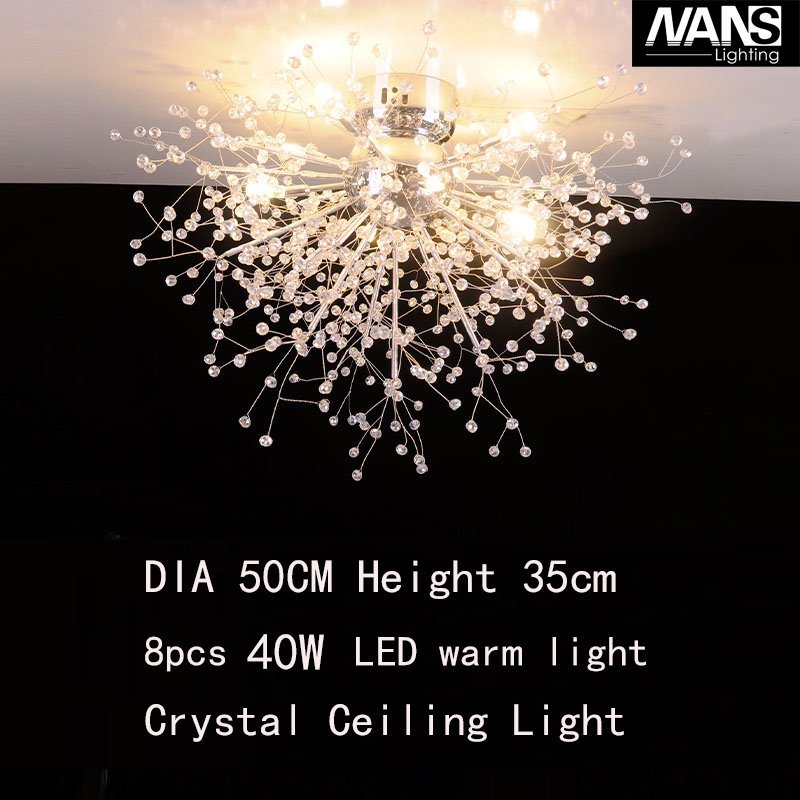 NANS Modern LED Crystal celling Lights vanity Cristal Lustre Lamp For Living Room  Celling Fixture for wedding / home decoration