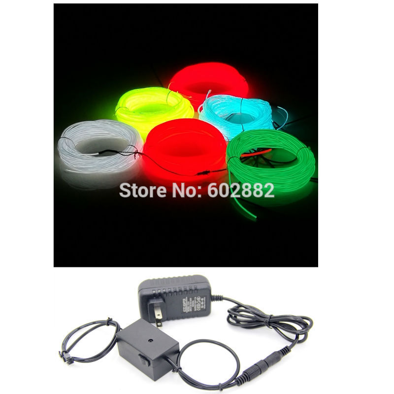 220/110V Inverter with power adapter + 10 Meters long el wire, neon wire, LED lighting (2.3mm)
