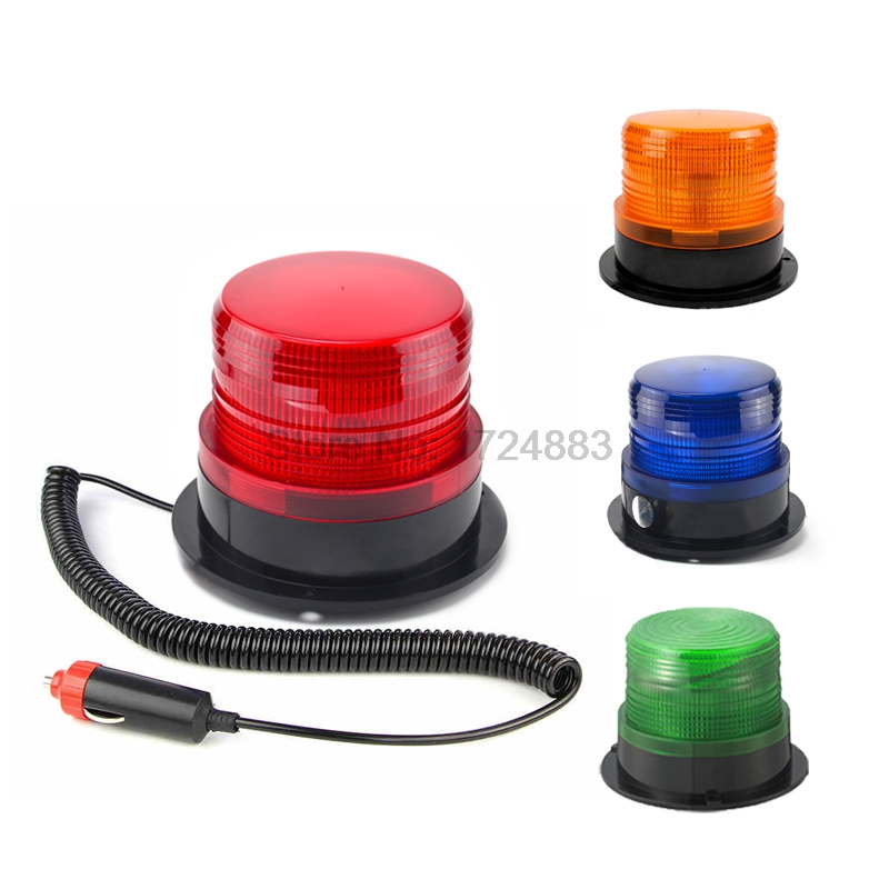 Rolling with cigar lighter Car Truck Signal Warning light 12V 24V N-5095 Indicator light LED Flash Beacon Strobe Emergency Lamp