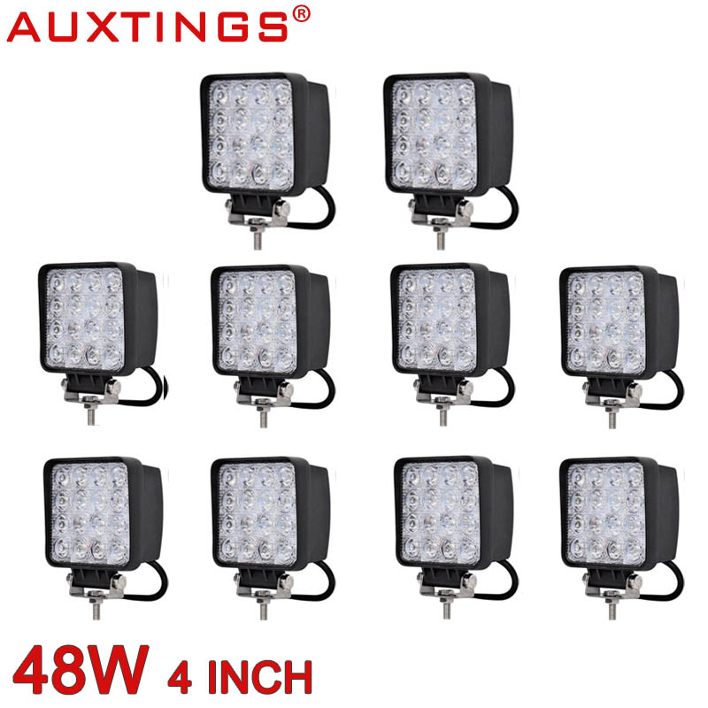 Auxtings waterproof 48w wide beam spot beam high power offroad car truck  12v led work light