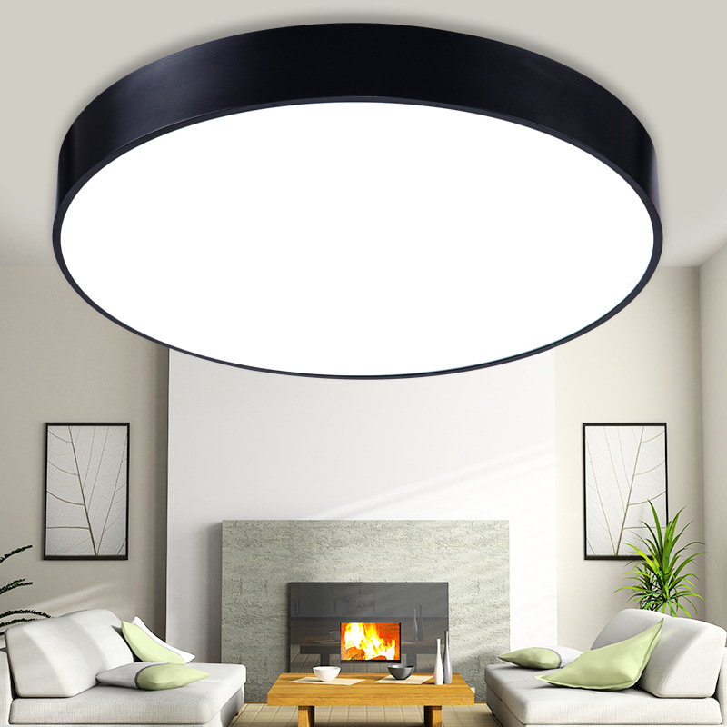 QLTEG  Minimalism LED ceiling light Round  simple decoration fixtures study dining room balcony bedroom living room ceiling lamp