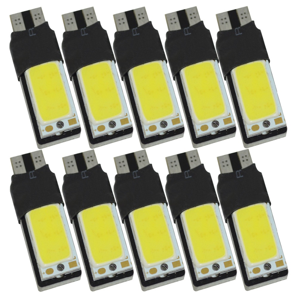 10pcs/lot T10 COB 6W High Power LED Lights Running Lights W5W t10 cob led