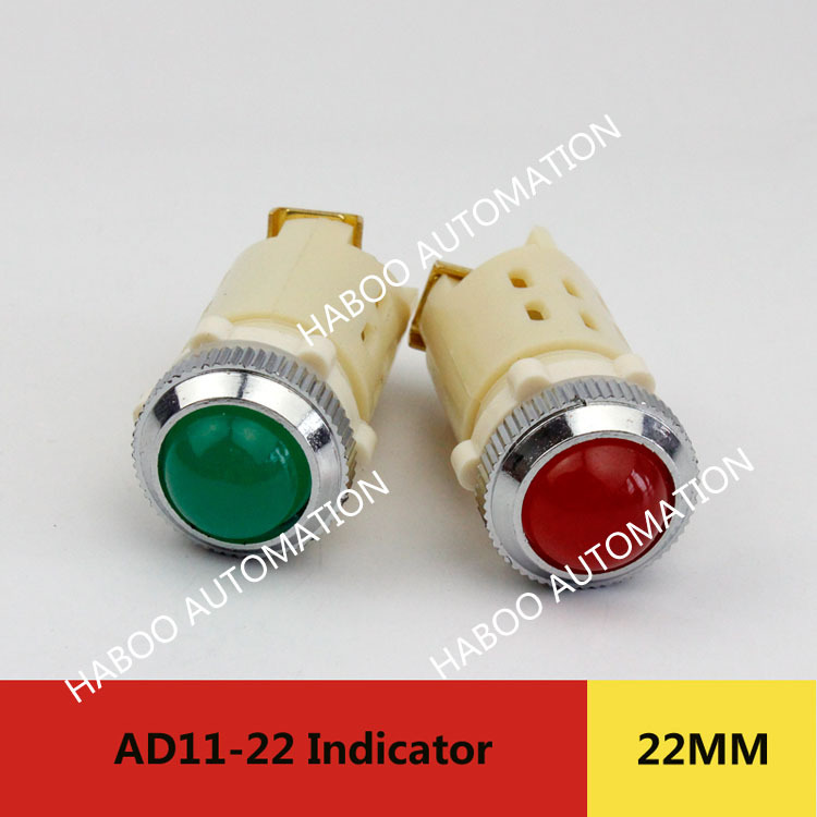 10pcs/lot AD11-22 Electrical Red LED Round Light Pilot Lamp 24V 220V 380V indicator light ,Signal lamp