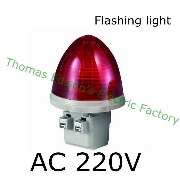 DMWD AC 220V 2 Screw Terminals Red LED flashing light Industrial Signal Light Tower Lamp S-TX indicator light