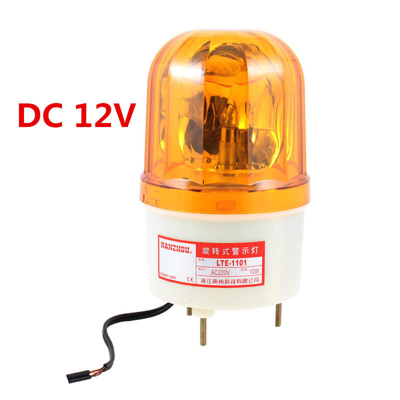 Yellow Rotating Light Mechanical Industrial Signal Warn Lamp LTE-1101 machine warning lampm
