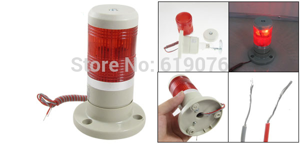 DC24V AC220V Buzzer Red Signal Tower Light Industrial Warning Lamp Alarm Apparatus