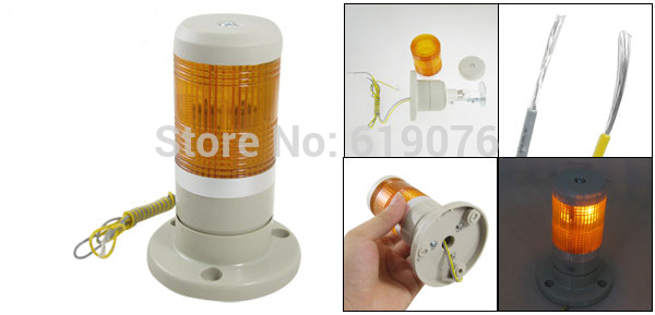 12V DC Industrial Yellow Signal Tower Light Buzzer