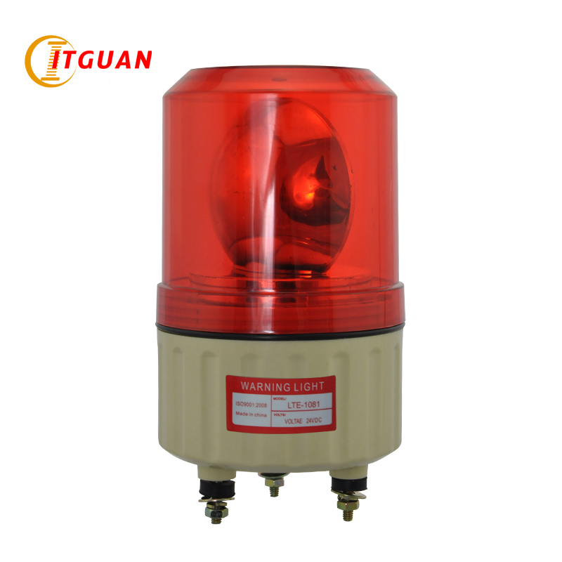 Warning Light LTE-1081 DC12/24V AC220V Bulbs Rotary Warning Lamp No Sound Visual Alarm Indicator Emergency Strobe Light
