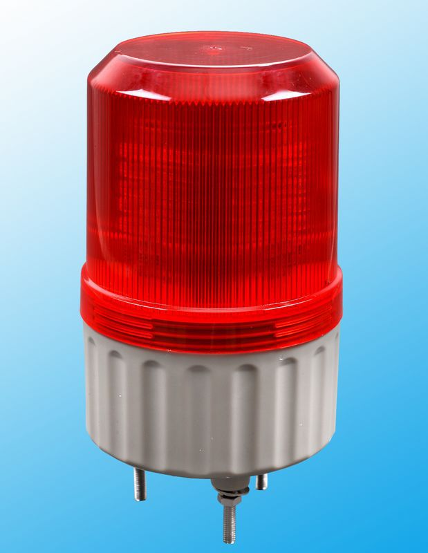 AC 110V/DC 12V 24V LED Rotating Industrial Signal Tower Warning Light buzzer sound Red Yellow Blue Green S-80