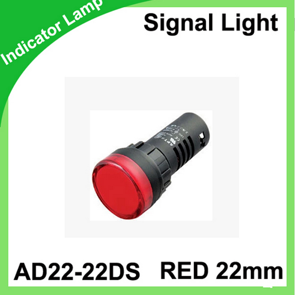 Red AD16-22DS 22mm Signal Lamp Led mounting size Indicator Light voltage 12V 24V 36V 220V 380V