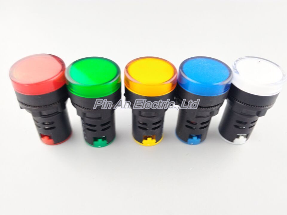 Indicator AD16-22DS DC 24V LED signal lamp Red/Green/Huang/Blue/White Indicator Lights