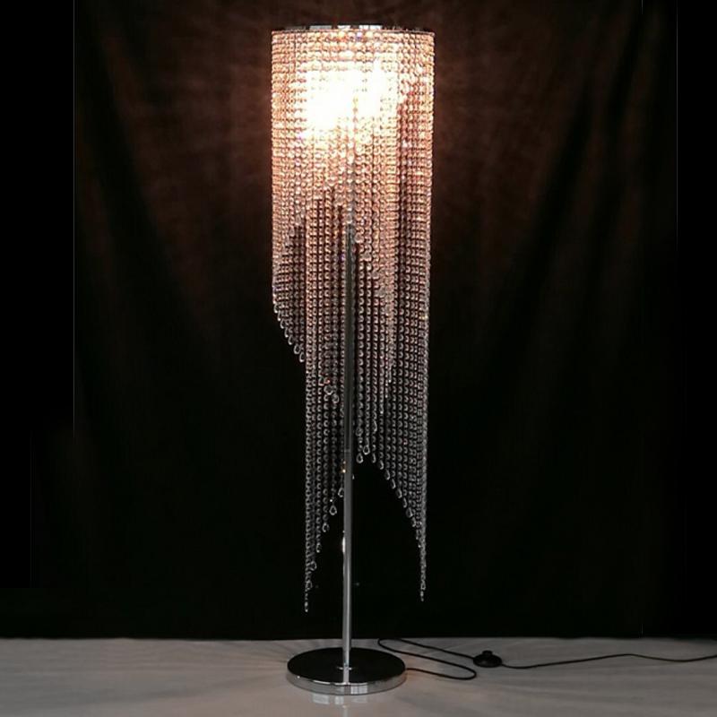 Recessed Led Floor Lights Crystal Lamp Modern Bedroom Decorative Light Livingroom Standing