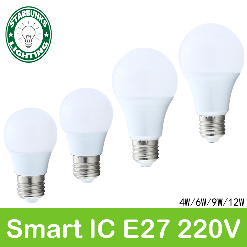 e27 220v for decor bulb lamp E27 ampoule lampada rechargeable light bulb light ceiling light bulb led  lamp AC 220V 12 led light