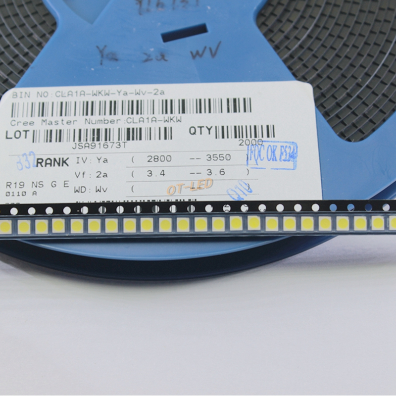 100pcs CREE 3528 LED SMD CLA1A-WKW-CXAYB153 White Blue Chip Ultra Bright Surface Mount Light-Emitting Diode LED 1210 SMT Lamp