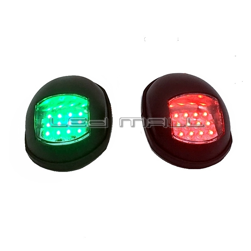 One Pair Marine Boat Yacht 12V Port/Starboard LED Navigation Lights Red and Green Pair