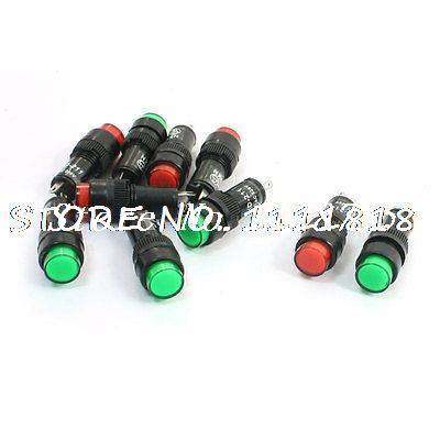 10Pcs 2 Pin Red Green Neon Bulb Signal Lamps Indicator Lights AC 220V