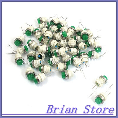 50 x Green LED Lamp Signal Indicator Pilot Light DC 24V 10mm Mount AD11-10/21