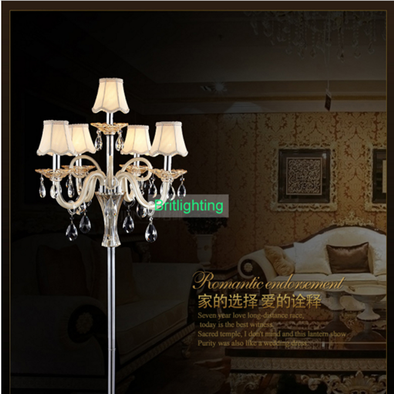 modern crystal floor lamp with fabric shade contemporary crystal floor lighting crystal floor lamps living room floor lights