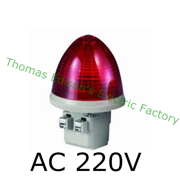 DMWD AC 220V 2 Screw Terminals Red LED Steady Industrial Signal Light Tower Lamp S-TX  . indicator light