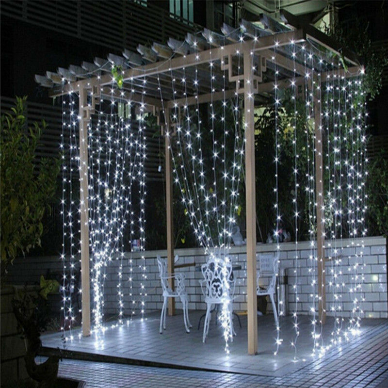 3x3/6x3/10x3m led New Year Christmas Garlands LED Wedding Fairy String light Christmas fairy Light garden party Curtain light