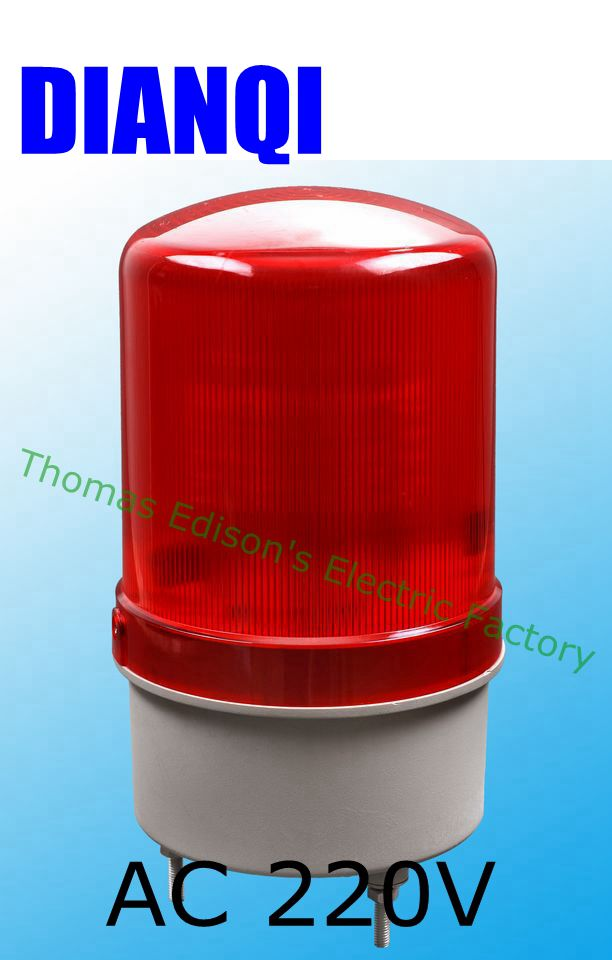 AC220V Construction engineering signals Warning alarm rotating beacon traffic light police siren without sound S-100