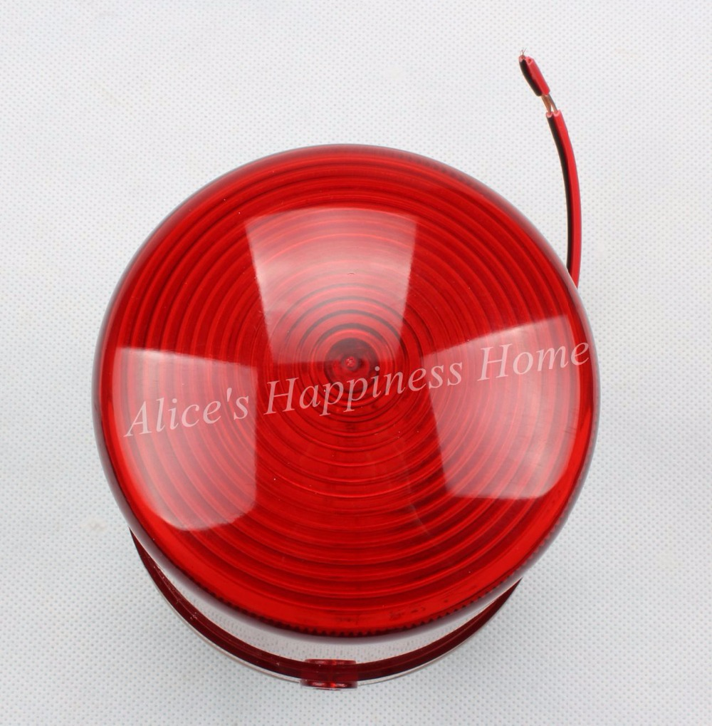 DC12V/24V Wired Flash Strobe Blinking Siren Sound and Quiet Alarm 2in1 Industrial Warning Light with Alarms  LTE-1101