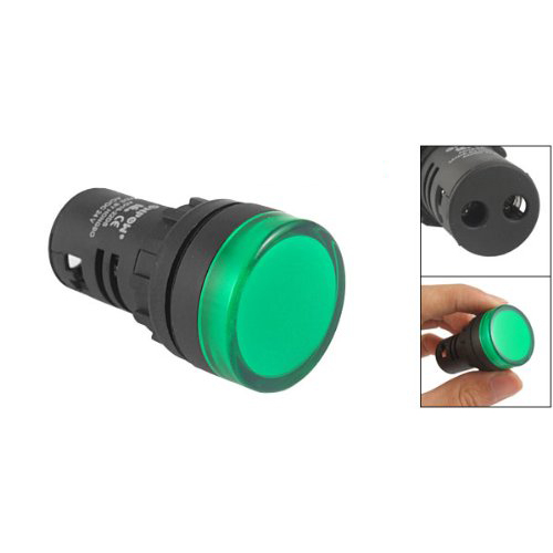 Panel Mount Green Pilot Light Signal Indicator Lamp AC DC 24V