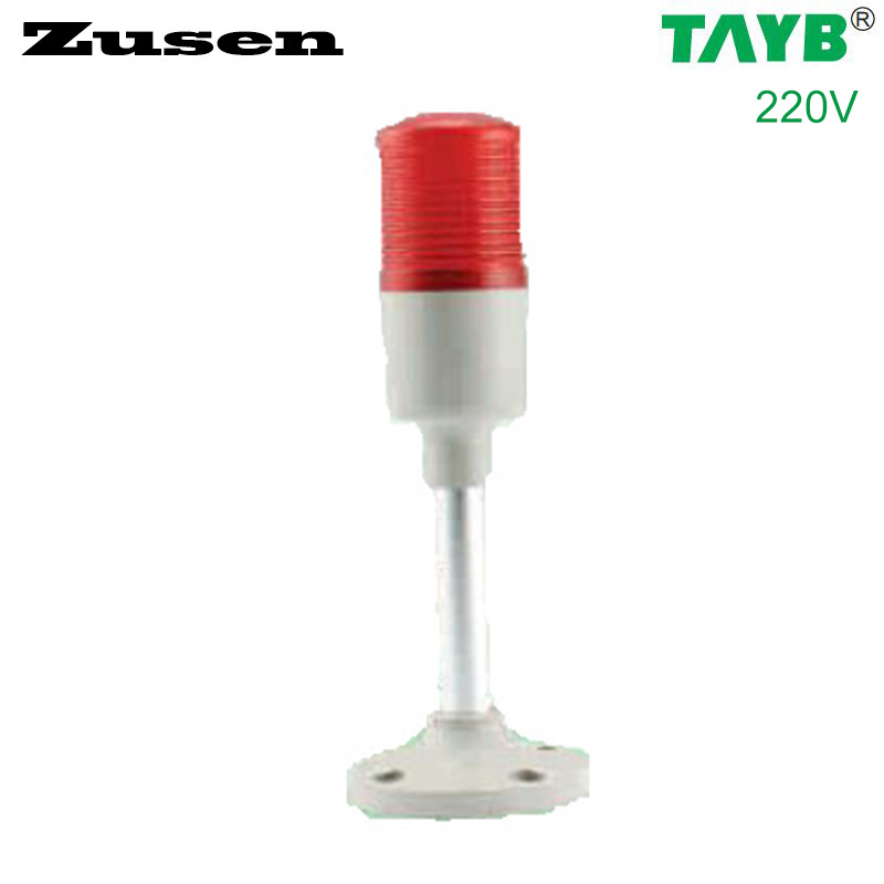 Zusen 40mm signal tower light  TB42-1T-D 220v red color led