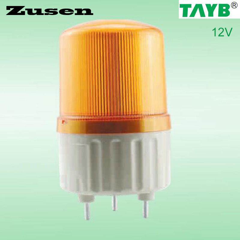 Zusen 12v TB1081J  Alarm  rolling Signal Warn Warning Siren yellow LED Lamp with buzzer