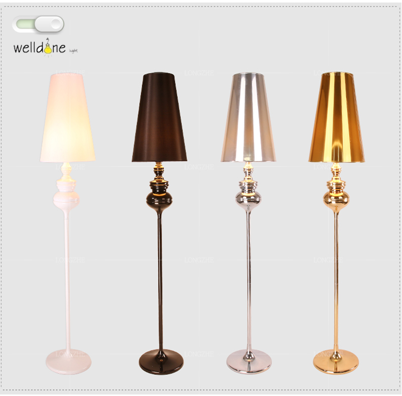 Modern Spanish Guardian Floor Lamp New Classical Bedroom Living Room Standing Lamp Fashion Study Hotel Gold LED Floor Lamp