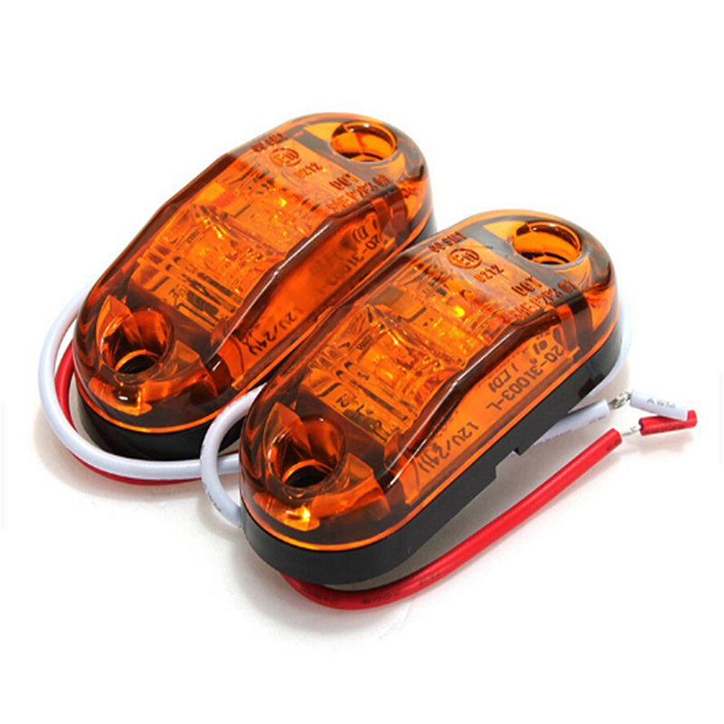 4 x LED side marker light truck camper van trailers e11 orange