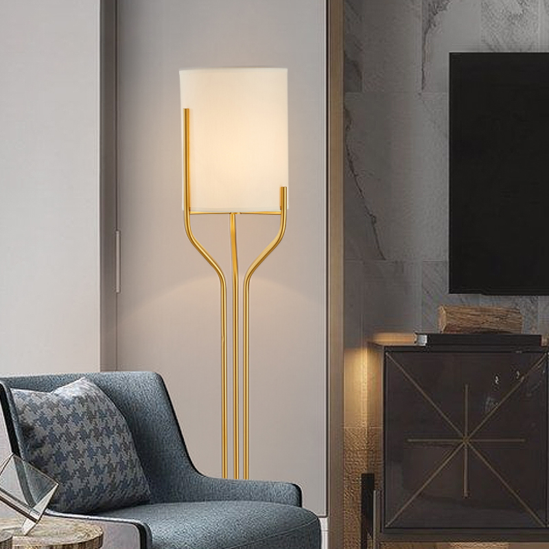 brass floor lamp e27 led modern home style floor lamps shadowless lamp Japanese floor lamps night sofa stand light nordic