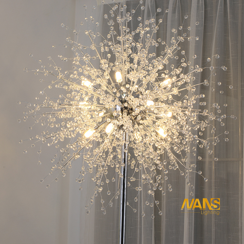 NANS New Modern  Crystal Stand Floor Lamps  Simple warm led Floor Lamp For Living Room Folding Standing Lamp Lambader Stehlampe