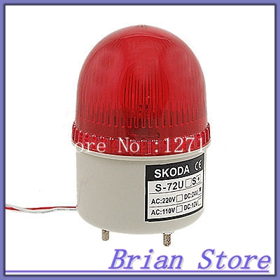 Red LED Light Signal Tower Industrial Warning Indicator Lamp DC 24V
