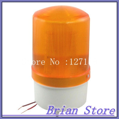 DC 24V Industrial Buzzer Warn Yellow LED Flash Signal Tower Indicator Light