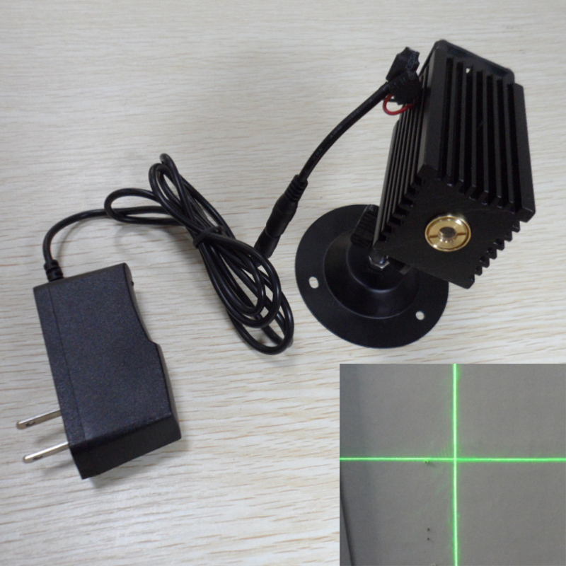 Long bright cross linear green laser marking laser laser head positioner 10MW