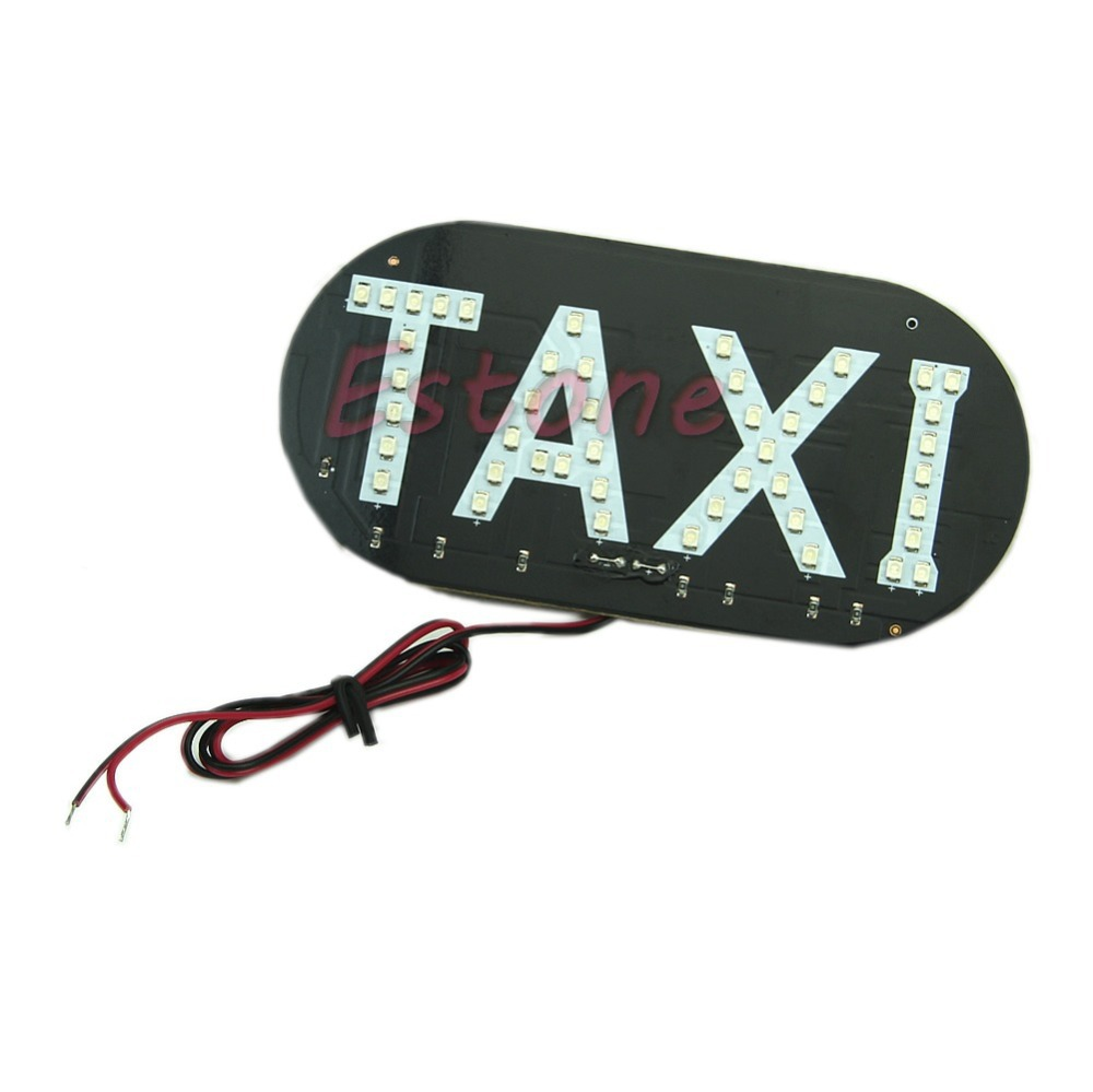 HOT 1PC 12V Auto Vehicles Car LED Windscreen Cab Sign Taxi Green Light LampFreeshipping -Y103