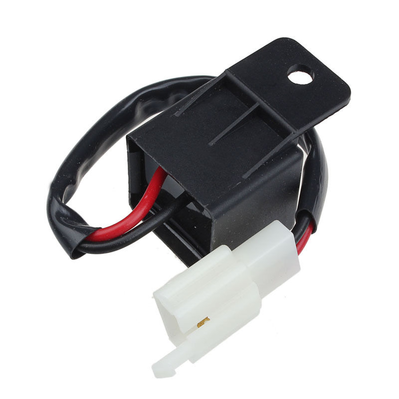 WSFS Hot Black Motorcycle Bike 2 Pin 12V LED Turn Indicator Light Flasher Blinker Relay Modish