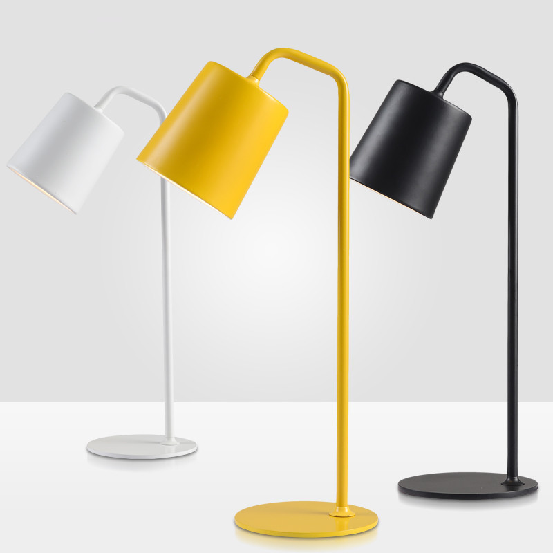 Modern simple Floor Lamp yellow black white color floor light Living Room reading bedroom office table lamp free shippping